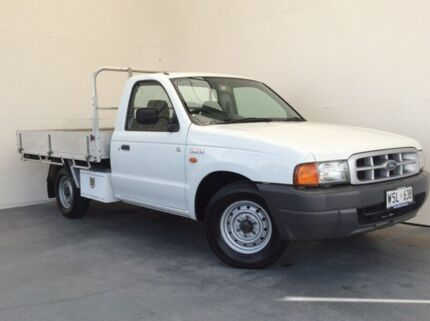 2002 Ford Courier PE GL White 5 Speed Manual Cab Chassis Mount Gambier Grant Area Preview