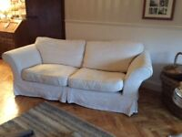 Beautiful damask 3 seater sofa with washable covers - Excellent condition