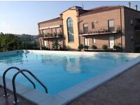 BARGAIN €45k Italian Flat for sale in Umbrian village with shared pool, 25mins from Perugia Airport