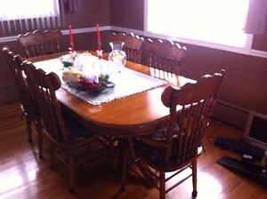 Beautiful solid wood dining room set with hutch St. John's Newfoundland image 1