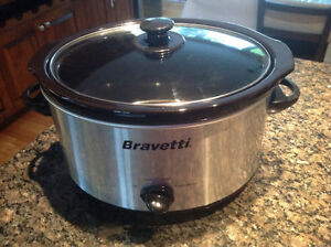 Bravetti 4-Qt Capacity Stainless-Steel Slow Cooker