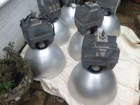 I have 6 large Holophane vintage/mid century, industrial spun aluminium pendant lights and shades.