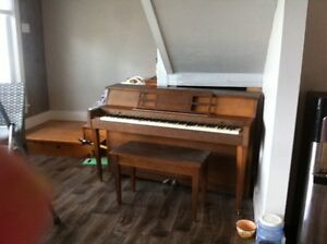Apartment size piano and bench FREE