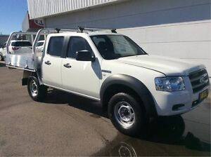 2007 Ford Ranger PJ XL Super Cab Hi-Rider White 5 Speed Manual Cab Chassis Cardiff Lake Macquarie Area Preview
