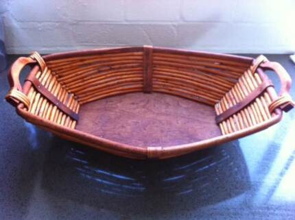 Large Wicker Basket -traditional basinet shape & solid bottom VGC Clayfield Brisbane North East Preview
