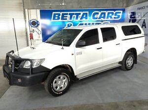 2012 Toyota Hilux KUN26R MY12 SR Double Cab White 4 Speed Automatic Utility Bungalow Cairns City Preview