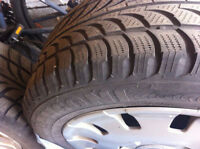 215 55R16 Snow Tires for BMW with original covers