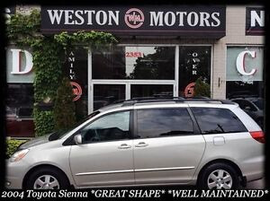 2004 Toyota Sienna 7 PASS*GREAT SHAPE*LEATHER*100% APRROVED!!