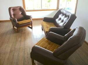 Lounge Retro Double Seater And Two Single Chairs
