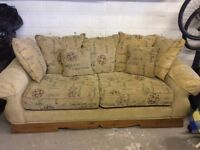 Sofa and arm chair for sale