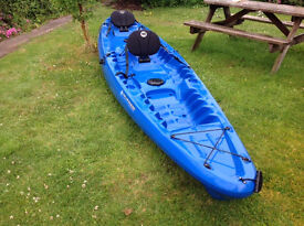 WildernessTapron 130T Sit on Kayak 2 Seater (2+1) Blue Good Condition