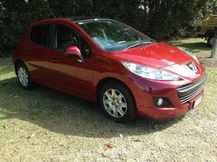 2010 Peugeot 207 A7 Series II MY10 XT Red 5 Speed Manual Hatchback Nambour Maroochydore Area Preview