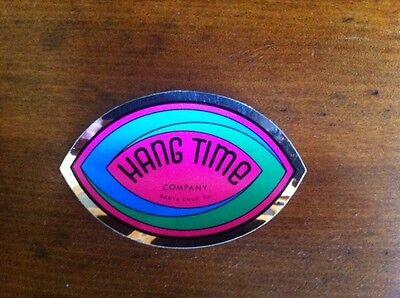 Santa Cruz California vintage surf skate sticker Hang Time Company