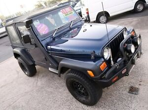 2000 Jeep Wrangler TJ * LOW KLMS * Sport (4x4) Blue 5 Speed Manual 4x4 Softtop Underwood Logan Area Preview
