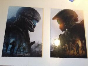 "Halo 5 wall deco plaques. 8"" x 11"" each"