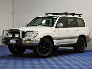 2003 Toyota Landcruiser UZJ100R Sahara (4x4) White 5 Speed Automatic Wagon Morley Bayswater Area Preview
