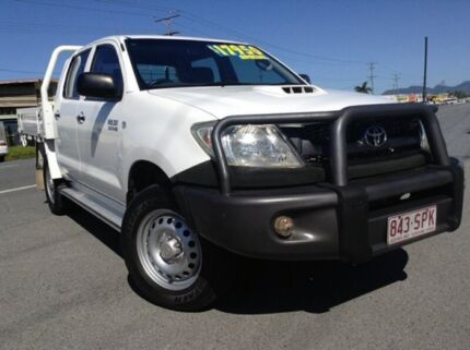 2009 Toyota Hilux KUN26R MY09 SR White 5 Speed Manual Cab Chassis Bungalow Cairns City Preview