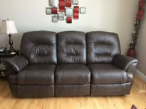 Dark Brown Leather Couch !
