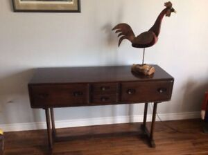 Solid Wood Mid Century Buffet Server | Credenza | Antique