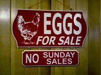 LOST   EGGS  FOR SALE SIGN
