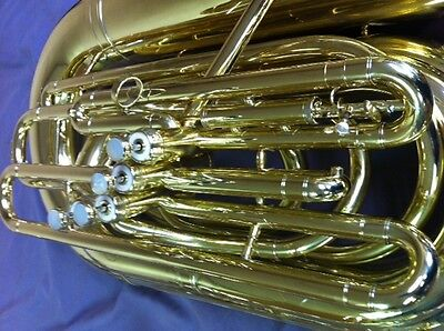 (REYNOLDS SYMPHONY BBb BRASS BASS TUBA W/DETACHABLE UPRIGHT BELL!  4 Velv )