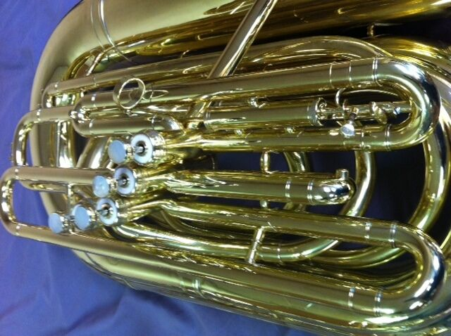 Reynolds Symphony Bbb Brass Bass Tuba W/detachable Upright Bell!  4 Velv