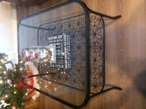 Glass coffee table & 2 end tables