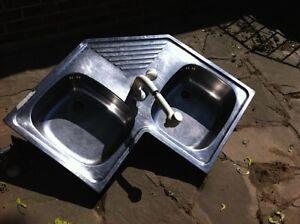 Stainless Steel Corner Sink