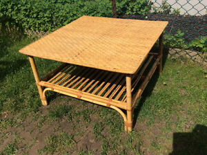 "$15 Firm, 30"" Square Wicker Coffee Table, AVAILABLE"