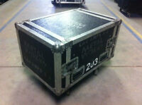 Rack Style Case with Wheels 9U - 203
