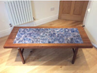Danish rosewood tile top coffee table by Arrebo Mobler