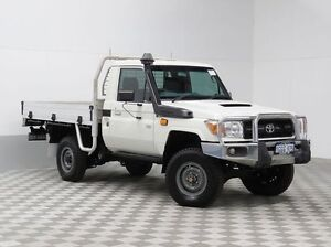 2015 Toyota Landcruiser VDJ79R MY12 Update Workmate (4x4) White 5 Speed Manual Cab Chassis Morley Bayswater Area Preview