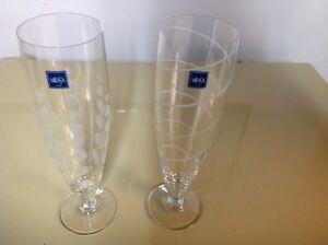 MIKASA DESIGNER CHAMPAGNE GLASSES