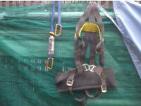 WINCH SEAT HARNESS WITH FALL ARRESTOR