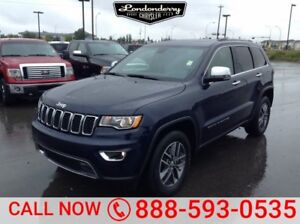 2017 Jeep Grand Cherokee 4WD LIMITED Leather,  Heated Seats,  Su
