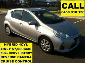 2013 Toyota Prius c NHP10R Hybrid Silver Pearl Continuous Variable Hatchback Ellenbrook Swan Area Preview