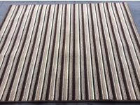 Brown stripe rug bargain!!