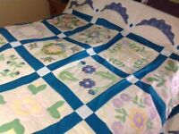 New Single/Double Handmade Appliqué Quilt 1 of 2 Advertised