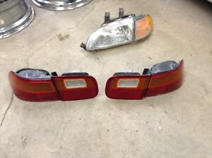 Honda Civic Tail lamps (tail lights) assemblies - all 4 pieces London Ontario image 1