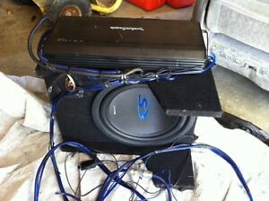 Rockford Fosgate Prime 500-1 Amp. with Alpine S 12 subwoofer