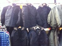 TWEED JACKETS AND PARKER COATS ALL NEW STOCK ARRIVED AT LONG EATON MARKET ALL NEW STOCK