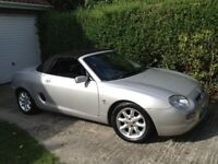 MG MGF 2001 silver convertible with specialised reg number