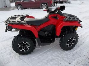 2014 CAN AM 500 OUTLANDER WITH WINCH AND NEW MOTER