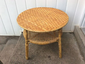 "23"" Round Wicker End Table / Bedside Table AVAILABLE"
