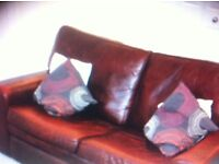 Good quality Leather Settee - 2 Seater