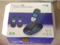 bt synergy 4100 3 pack x 3 digital cordless handsets.