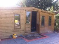 sheds and summer houses made to order any size or spec free install