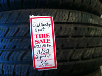 2 PNEUS 235/70R16 WILD COUNTRY  11/32  $100.00 LES 2