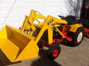 Case 444 loader tractor and roto tiller