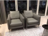 2 x Barnaby Armchairs by Contempo - less than a year old